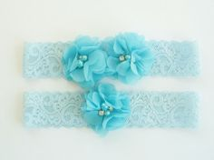 Wedding Garter Garter Set with Toss Garter in by nanarosedesigns, $21.00