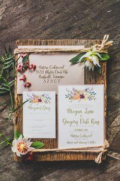 Love these custom invitations! #cedarwoodweddings