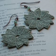 Purple Chair Crochet: Gorgeous Crochet Earrings