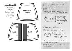 Mini skirt pattern for Blythe.   From ~ http://hellomoshi.blogspot.co.uk/2011/12/make-moshi-mini-skirt-for-blythe.html