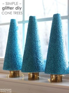 Simple glitter covered topiary tree craft
