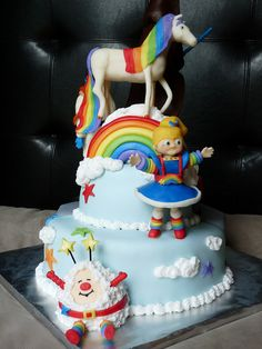Rainbow Brite Cake by megan.forrester, via Flickr