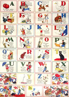 Vintage Alphabet Poster Perf For A Nursery