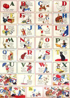 vintage alphabet poster / perf for a nursery