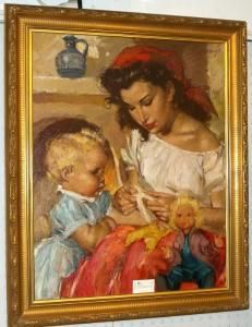 Bilderesultat for charles roka Mother And Child, Paintings, Children, Art, Mother Son, Young Children, Art Background, Boys, Paint