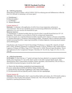 NBCOT Facebook Test Prep QUESTIONS / ANSWERS page 16 Soft Tissue Injury, Practice Exam, Exam Study, Test Prep, Question And Answer, Ultrasound, Occupational Therapy, Physics, Prepping