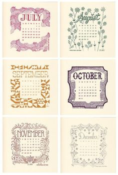 2011 Calendar by beauideal on Etsy