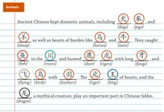 Chinese radical characters in the animals category