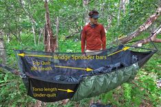 hammock camping  u2013 part ii  types of backpacking hammocks and spec  parison to ground bridge hammock instructions   camping   pinterest   camping  rh   pinterest