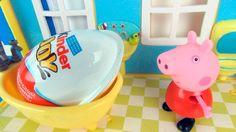 Свинка Пеппа получает огромный киндер