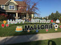 Happy 12th Birthday Mallorie Minnesota Yard Greetings