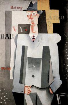 Self-portrait by Josef Čapek (1887-1945), 1920, Mr. Myself. #CzechArtist #SelfPortrait #CubismCzech