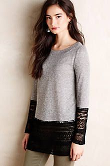 in the gray and white, this is a great idea for refashioning a sweater that's a little small or short