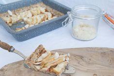 Amandel- Appel taart Cereal, Dairy, Cheese, Breakfast, Food, Cake, Morning Coffee, Eten, Food Cakes