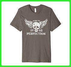 Mens Vintage Made In 1965 Birthday Gift T-Shirt Skull Medium Asphalt - Birthday shirts (*Amazon Partner-Link)