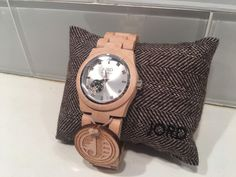 JORD Cora Maple & Silver wooden watch