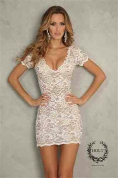 White lace Dress.  Teen Fashion. By- Lily Renee♥ (iheartfashion14)