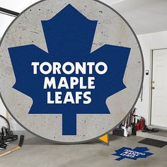 NHL Toronto Maple Leafs from Fathead make a bold statement that cheap alternatives cannot compare to. Toronto Maple Leafs Logo, Maple Leaf Logo, Maple Leafs Hockey, Love My Boys, Nhl, Leaves, Stanley Cup, Man Cave, Basement