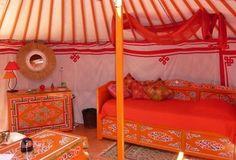 Tenda mongola a Sorède, Francia