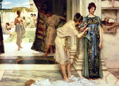 Sir Lawrence Alma-Tadema The Frigidarium Art Painting