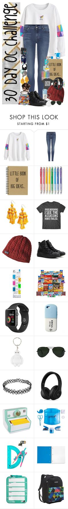 """30 Day OC challenge: Day three"" by wibbly-wobbly-timey-wimey-dork on Polyvore featuring Marvel, 7 For All Mankind, Kate Spade, Patagonia, Converse, Yoobi, Hot Topic, Ray-Ban, Beats by Dr. Dre and Post-It"