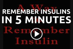 Remember Insulins in Five Minutes