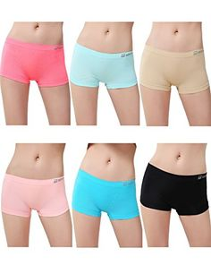 Womens 6 Pack Sports Boy Short Cut Hipster Panties Seamless Boxer Briefs Underwear LXL ** You can get additional details at the image link. Note:It is Affiliate Link to Amazon.