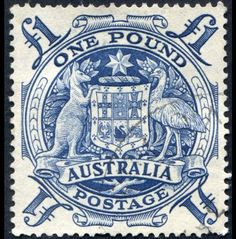 Picture of One pound square Australian postage stamp with image of a kangaroo and an emu circa 1960 Rare Stamps, Vintage Stamps, Postage Stamp Art, Stamp Printing, Mail Art, Stamp Collecting, My Stamp, Vintage Photos, Herb