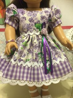 18 Doll Dress by Sewcraftylolly on Etsy American Girl Dress, American Doll Clothes, Ag Doll Clothes, American Dolls, Ag Clothing, Modern Clothing, Dress Outfits, Girl Outfits, Girl Dolls