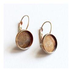 Antikolt bronz francia kapcsos tányéros fülbevaló alap 14 mm NIKKELMENTES - Fülbevaló alkatrészek - Csinálj Ékszert! webáruház