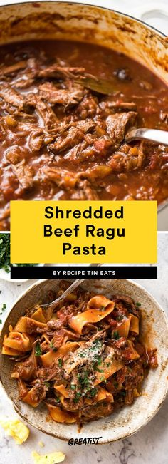 Shredded Beef Ragu Pasta