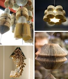Upcycled Books. #decoration #craft #recycle #lamp