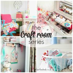 The craft room series - tours of my favourite craft rooms and fabulous ideas for craft storage. - need to read on laptop Craft Storage Solutions, Craft Room Storage, Craft Organization, Craft Rooms, Sewing Spaces, Sewing Rooms, Space Crafts, Home Crafts, Hobby Room