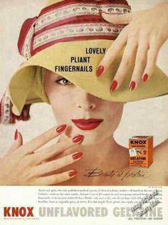 Knox Gelatine Lovely Pliant Fingernails Promo (1958)