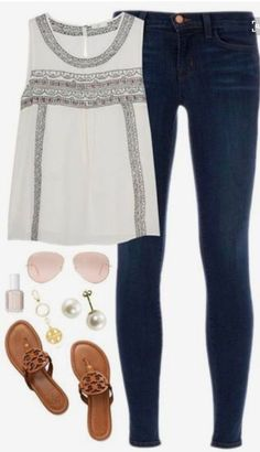 STITCH FIX FASHION TREND 2018. Beautifully detailed sleeveless blouse paired with the perfect skinny jeans. Sign up for stitch fix today and receive hand picked items from your personal stylist delivered to your front door. Simply click on the pic and fill out your style profile. $20 styling fee goes toward ANY item you keep. Get started today! #stitchfix #stitchfix2018 #fashion2018 #springfashion #summerfashion