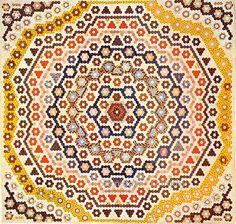 Pieced Quilt Mosaic Medallion 1840