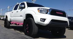 Muddy Girl Pink Edition - 2014 Toyota Tacoma .  We specialize in custom builds.  Contact us for more information! www.cochranetoyota.com   www.cochraneservice.com sales@cochranetoyota.com  #tacomatown #cochranetoyota #awesome