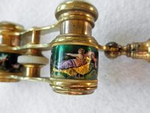 Exquisite Antique French Enamel Lemiere Opera Glasses Extended Handle from Victoriental on Ruby Lane