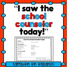 """""""I Saw the Counselor Today"""" Slip by The Responsive Counselor School Counselor Organization, School Counselor Office, Elementary School Counselor, School Social Work, Elementary Schools, Counseling Office, Group Counseling, Counseling Psychology, School Psychology"""