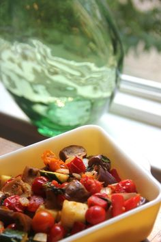 """Mini"" Ratatouille with fairytale eggplant and cherry tomatoes"