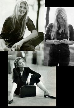 Master of minimalism: Carolyn Bessette-Kennedy #BlackandWhite #Photography #90s