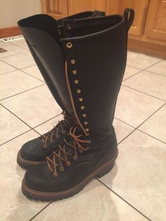 Lineman Boots #Danner #WorkSafety Tall Boots, Shoe Boots, Men's Boots, Shoes, Black Work Boots, Danner Boots, Engineer Boots, Lineman, Steampunk Clothing