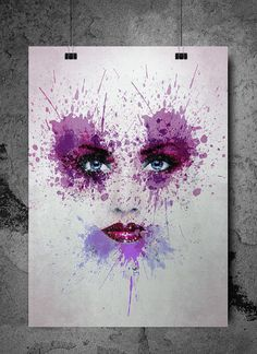 The Eyes Grunge Art Print Digital Download by SeventyEightDesign