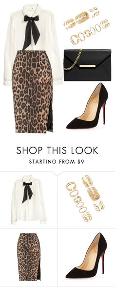 """""""Untitled #753"""" by sarabeth12 ❤ liked on Polyvore featuring H&M, Forever 21, Altuzarra, Christian Louboutin and MICHAEL Michael Kors"""