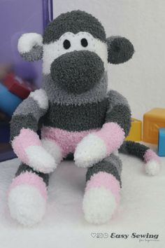 Here's a step-by-step tutorial for how to make a sock monkey with a sock monkey pattern PDF template to download as well. Video and photo tutorial included!