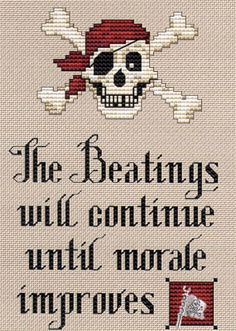 One of my favorite sayings, in cross-stitch. Love it!