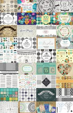 3512 in 1 - MEGA BUNDLE - 99% OFF -  This is absolutely new huge bundle. This bundle combines a completely different items, but which are perfectly combined with each other. You have plenty of opportunities to create a logo or invitation, poster or branding, postcard or business card. You can make a custom design yourself. Most of elements are color, shape and size adjustable @creativework247