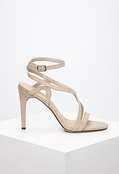 Curved Strap Stiletto Sandals | Forever 21 - 2000131450