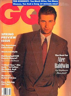 Alec Baldwin, looking quite sexy, on the Feb. 1990 cover of GQ