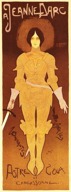 Georges De Feure (1868-1943) - Jeanne D'Arc. Poster. Circa 1900.
